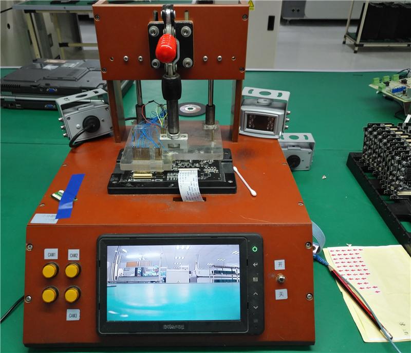 制造車間-工藝-視頻板測試